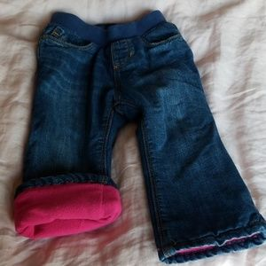 Old Navy Fleece Lined Soft Jeans NOT TOO TIGHT!